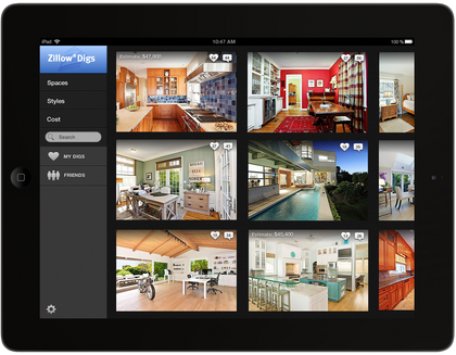 Zillow unveils new 39 zillow digs 39 home improvement platform for Apps for home remodeling