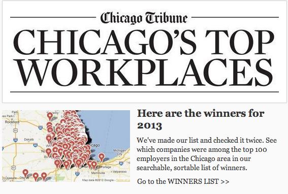 top-workplaces-chicago-tribune-2013-charles-rutenberg-baird-warner-kale-realty-@properties-transwestern-jones-lang-lasalle-pangea-properties