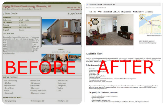 craigslist changes standards and discontinues enhanced ads With craigslist real estate ad templates
