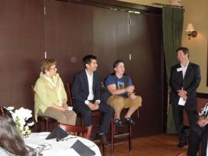 Liz Chalberg (Coldwell Bankers), Joe Castillo (Mi Casa), Sam Powell (Dream Town Realty), Brian Kwilosz (Exit Realty)