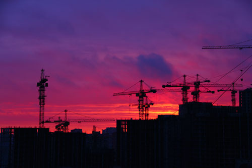 Construction-Sunset