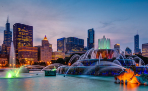 chicago-skyline-buckingham-fountain